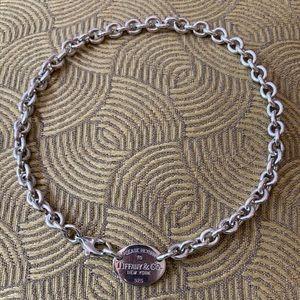 Return to Tiffanys choker oval sterling silver
